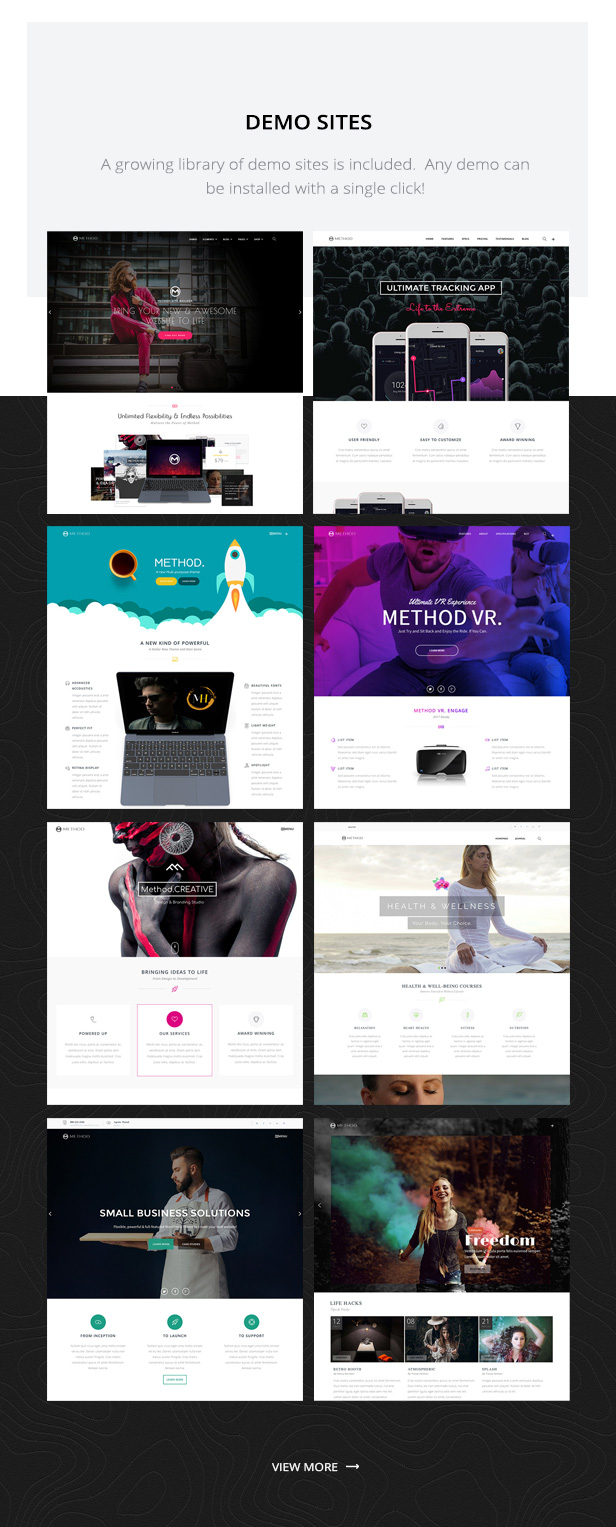 Method - Multi-concept site builder